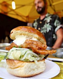 A Crabbieshack deep-fried soft-shell crab burger